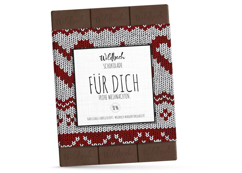 Wildbach Schokolade - Saisonschokoladen Weihnachtstafel Für Dich
