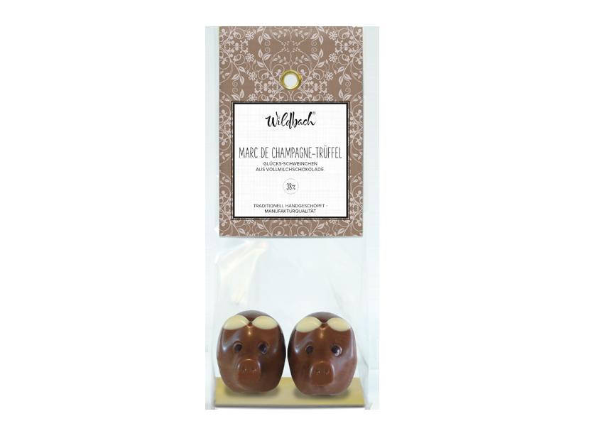 Wildbach Schokolade - Glücksschweinchen Schweinchen Vollmilch