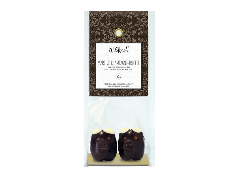 Wildbach Schokolade - Glücksschweinchen Schweinchen Zartbitter