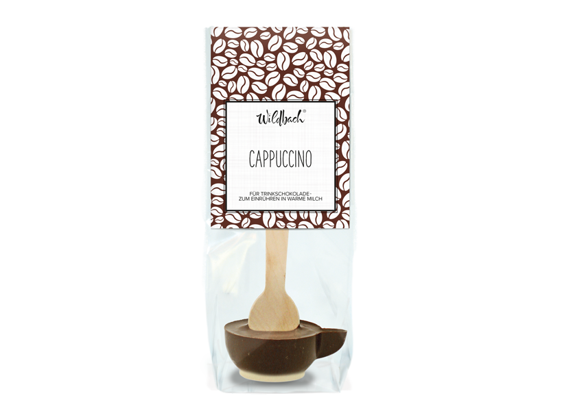 Wildbach Schokolade - Glutenfrei Trinkschokolade am Stiel Cappuccino