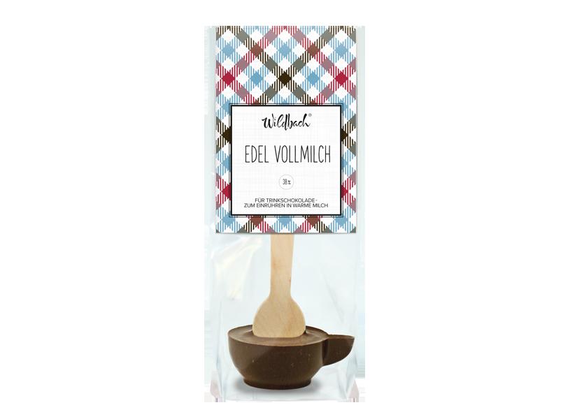 Wildbach Schokolade - Glutenfrei Trinkschokolade am Stiel Vollmilch