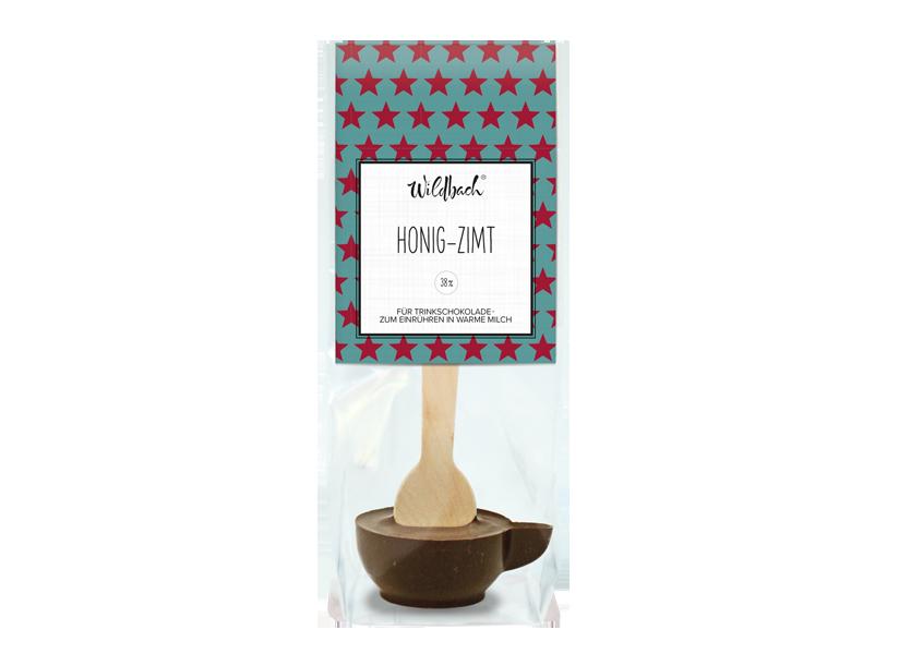 Wildbach Schokolade - Saisonschokoladen Trinkschokolade am Stiel Honig-Zimt