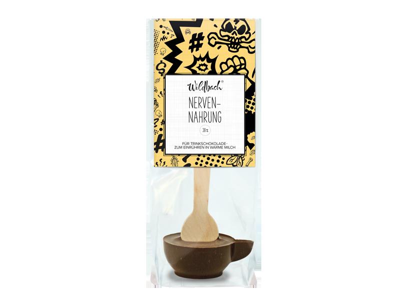"Wildbach Schokolade - Glutenfrei Trinkschokolade am Stiel ""Nervennahrung"""