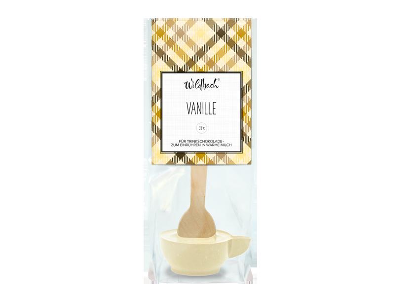 Wildbach Schokolade - Glutenfrei Trinkschokolade am Stiel Vanille