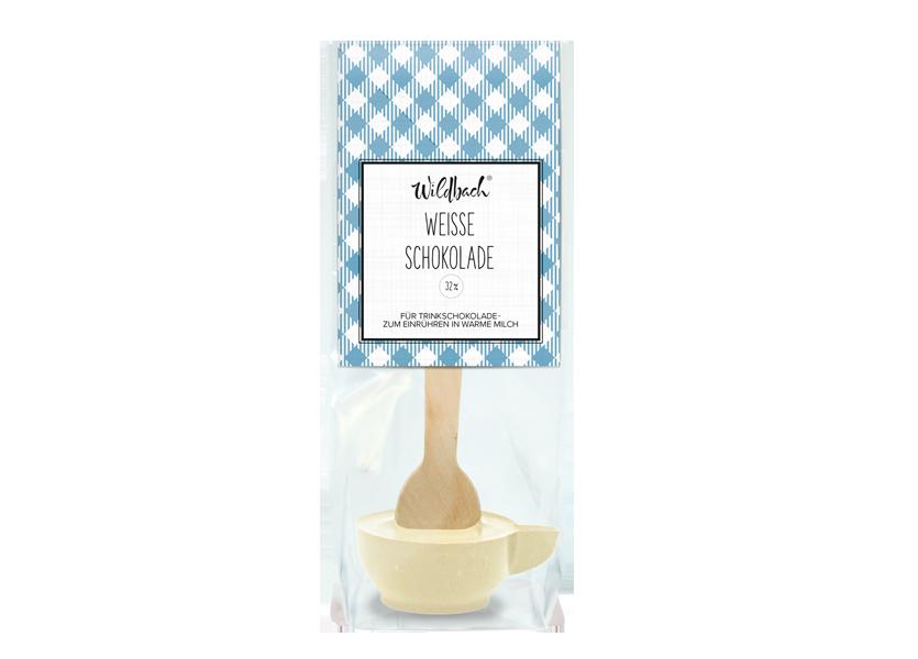 Wildbach Schokolade - Glutenfrei Trinkschokolade am Stiel Weiße