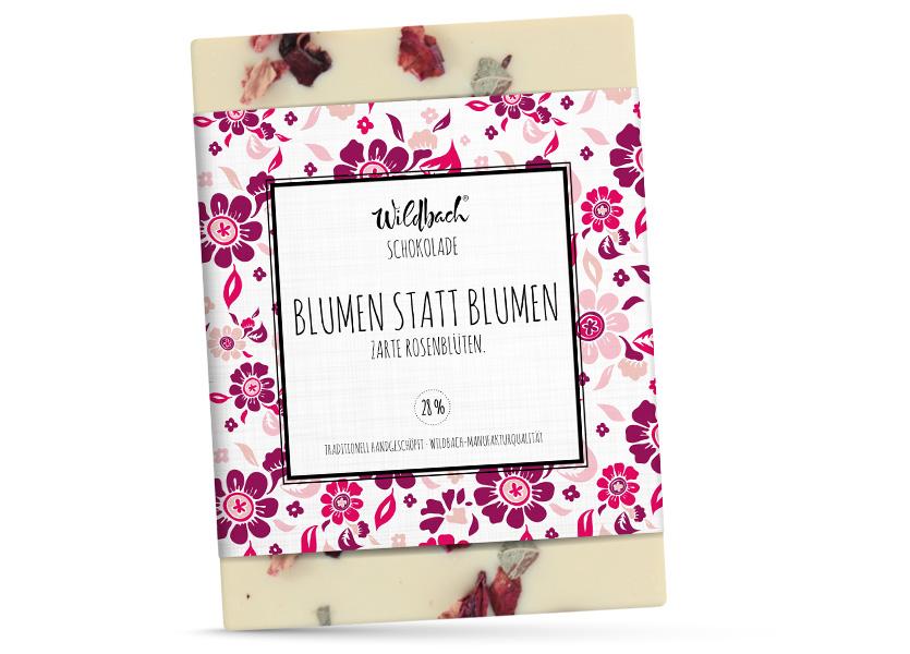 Wildbach Schokolade - Glutenfrei Blumen statt Blumen