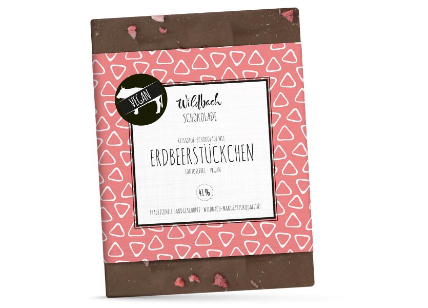 Wildbach Schokolade - Glutenfrei Erdbeerstückchen
