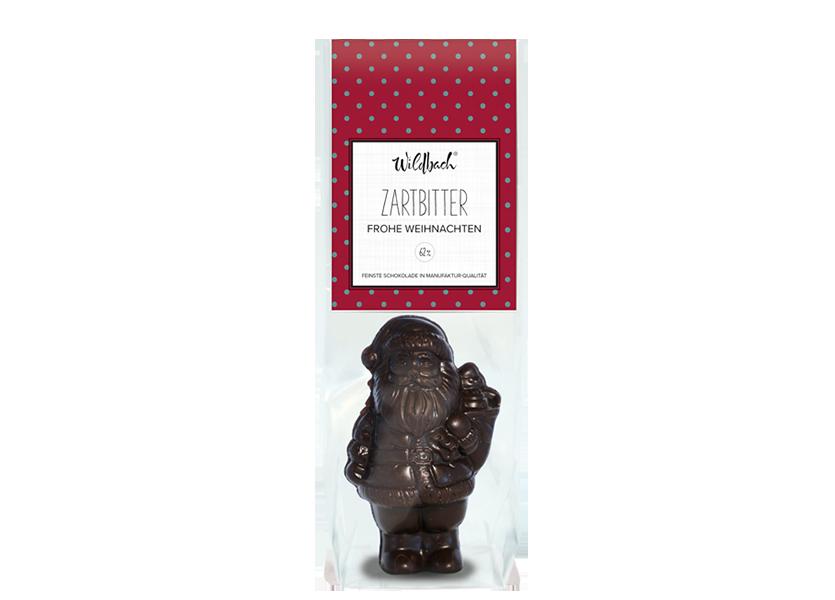 Wildbach Schokolade - Saisonschokoladen Weihnachtsmann Zartbitter