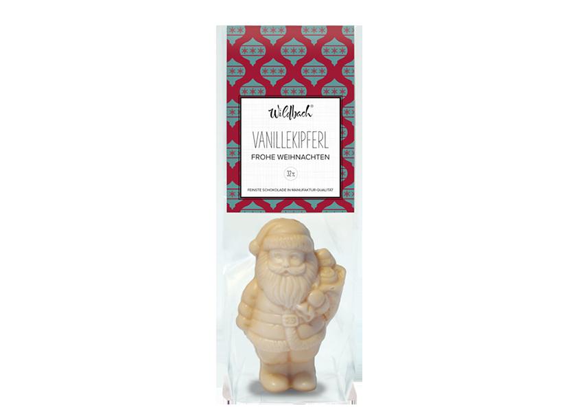 Wildbach Schokolade - Saisonschokoladen Weihnachtsmann Vanillekipferl