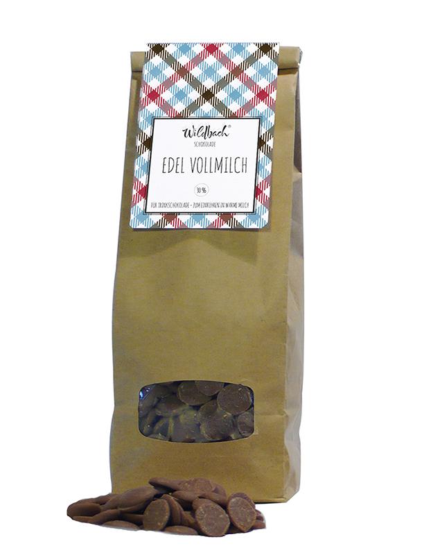 Wildbach Schokolade - Glutenfrei Schoko-Drops Vollmilch