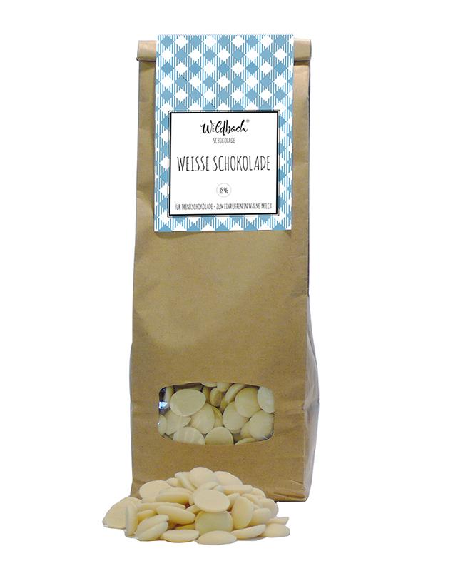 Wildbach Schokolade - Glutenfrei Schoko-Drops Weisse