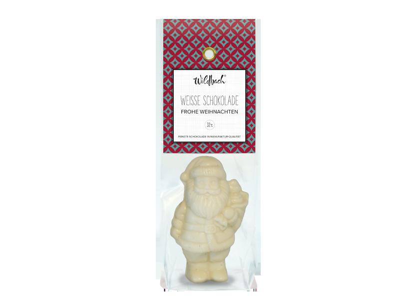 Wildbach Schokolade - Saisonschokoladen Weihnachtsmann weiße Schokolade