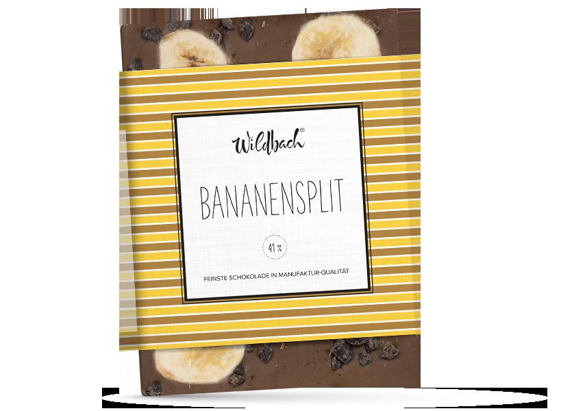 Wildbach Schokolade - Früchte und Spezielles Bananensplit