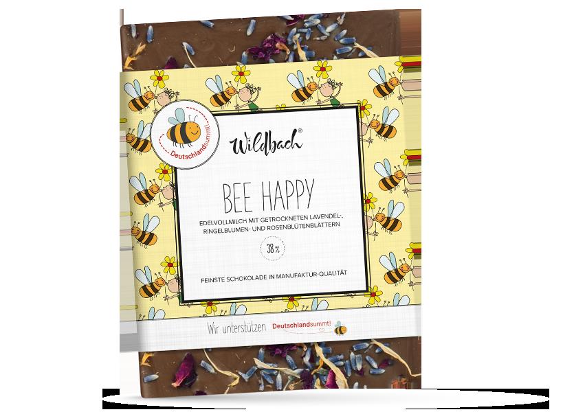 Wildbach Schokolade - Glutenfrei Bee Happy Edle Vollmilch Schokolade