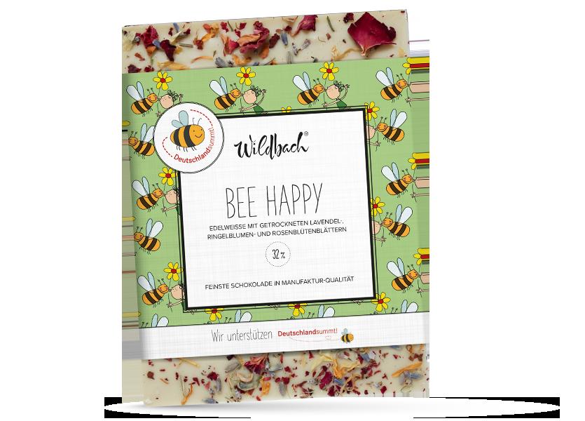 Wildbach Schokolade - Glutenfrei Bee Happy Weiße Schokolade