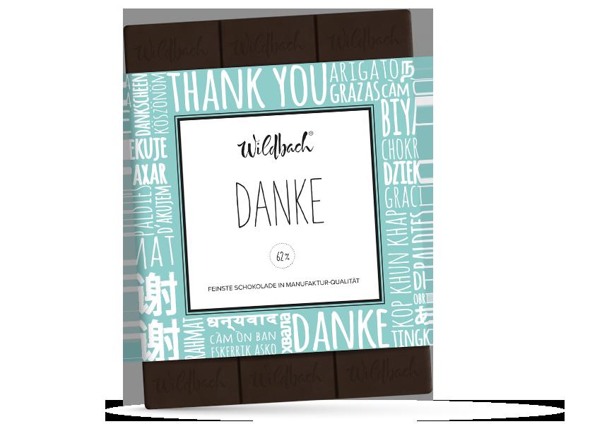 Wildbach Schokolade - Für unsere Liebsten Danke – Zartbitter