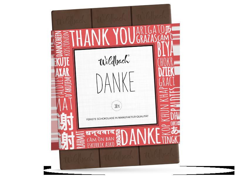 Wildbach Schokolade - Für unsere Liebsten Danke