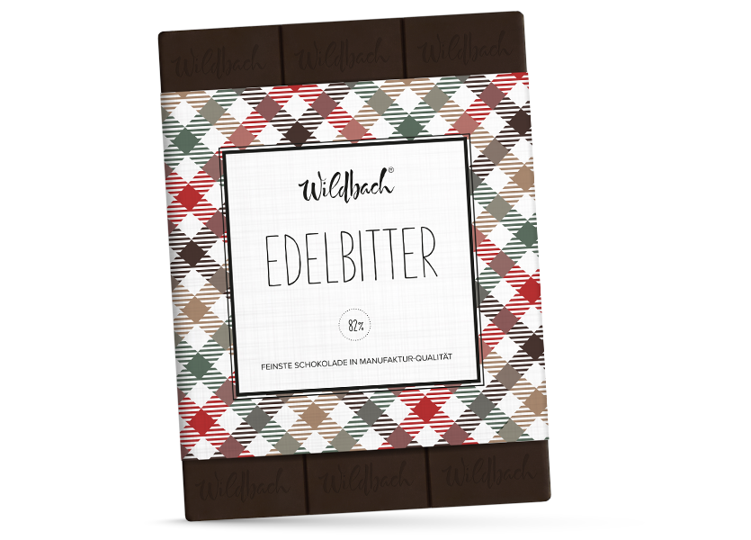 Wildbach Schokolade - Glutenfrei Edelbitter 82%