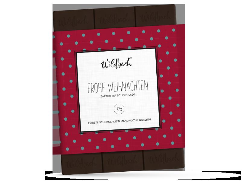 Wildbach Schokolade - Saisonschokoladen Weihnachtstafel Zartbitter