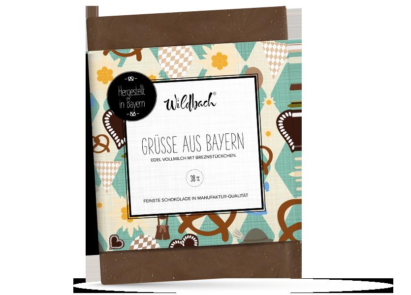 Wildbach Schokolade - Bayernserie Grüße aus Bayern