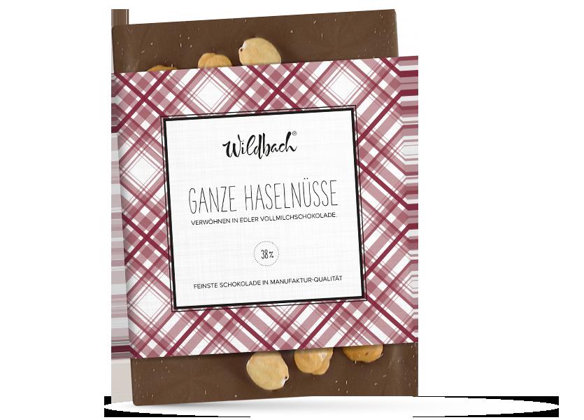 Wildbach Schokolade - Glutenfrei Haselnuss Vollmilch