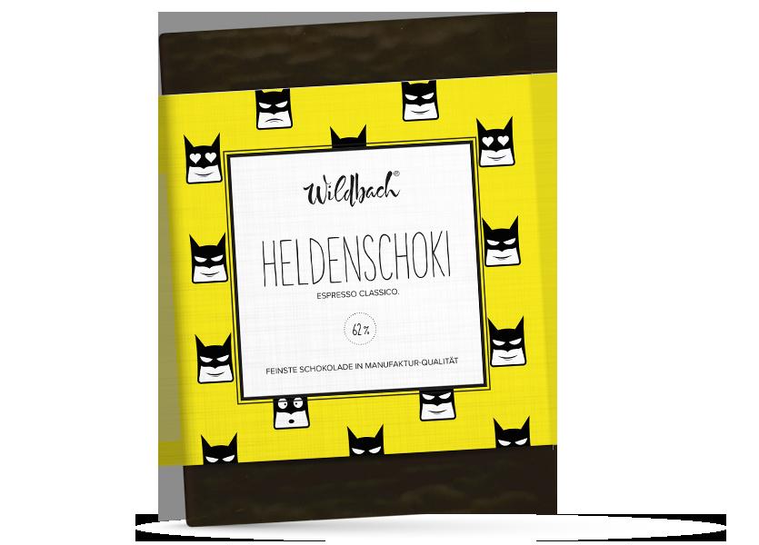 Wildbach Schokolade - Für unsere Liebsten Heldenschoki