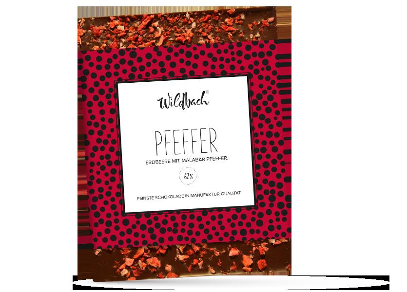 Wildbach Schokolade - Früchte und Spezielles Erdbeere-Pfeffer