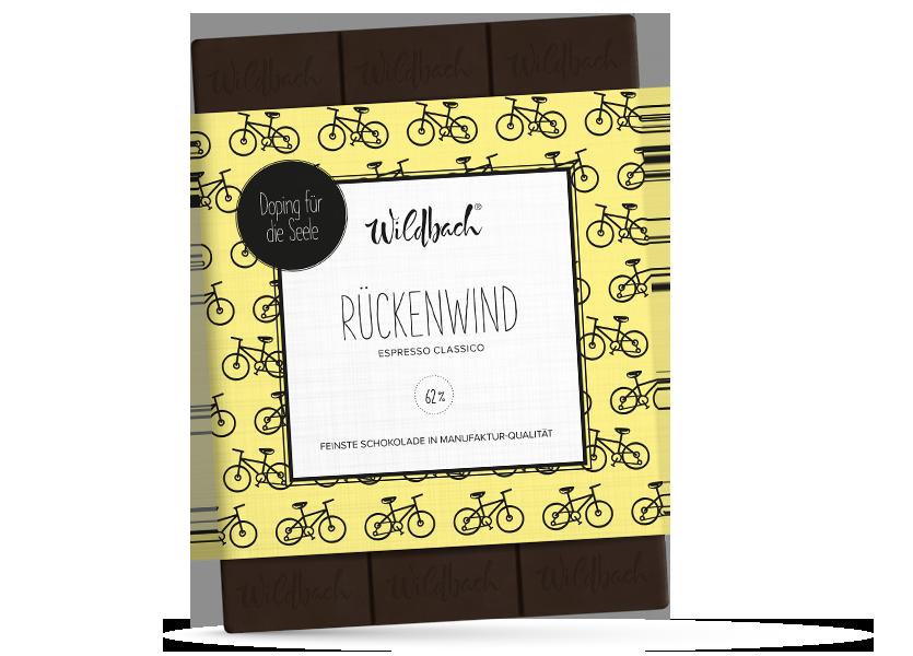 Wildbach Schokolade - Doping für die Seele Rückenwind