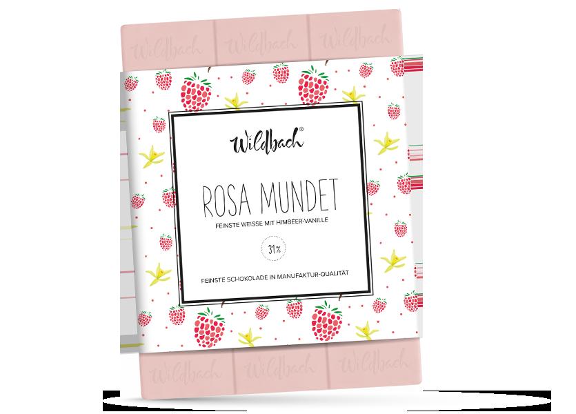 Wildbach Schokolade - Früchte und Spezielles Rosa mundet