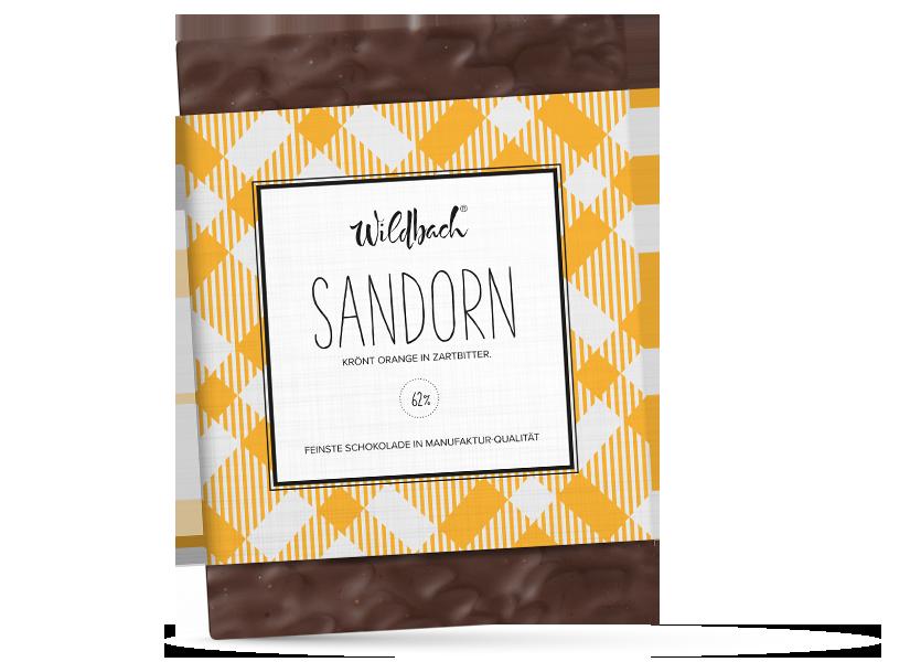 Wildbach Schokolade - Füllungen Sanddorn