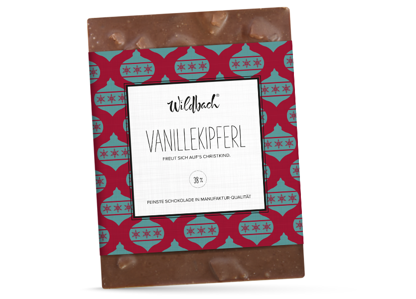 Wildbach Schokolade - Saisonschokoladen Vanillekipferl