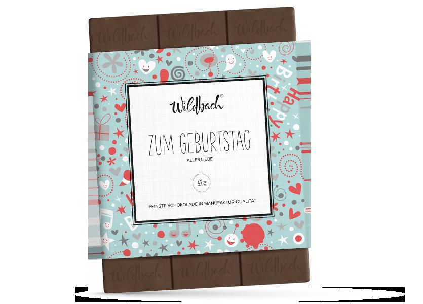 Wildbach Schokolade - Glutenfrei Zum Geburtstag – Zartbitter