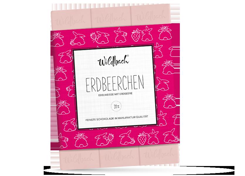 Wildbach Schokolade - Saisonschokoladen Erdbeerchen