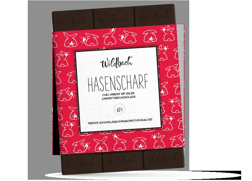 Wildbach Schokolade - Saisonschokoladen Hasenscharf
