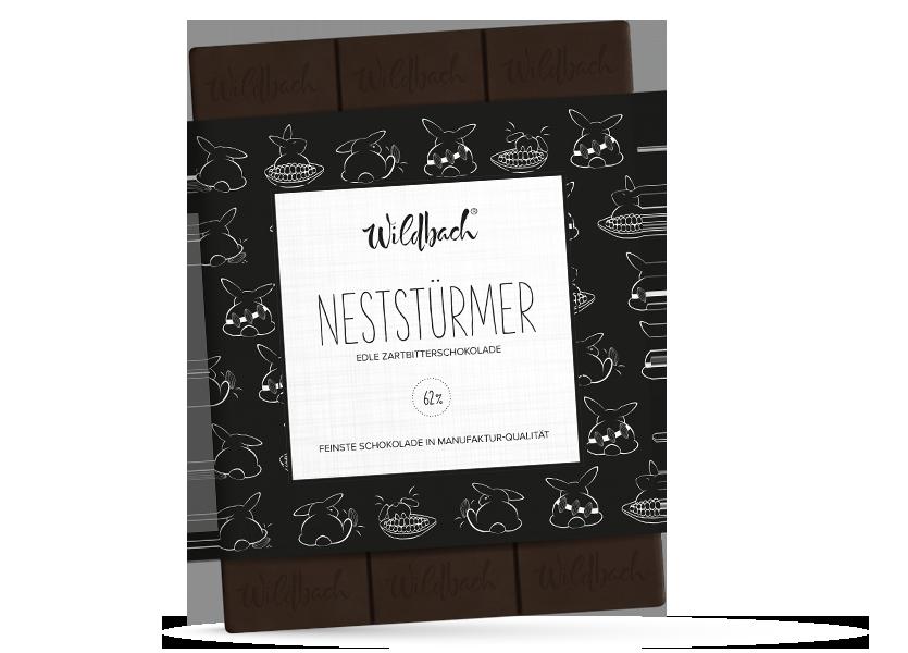 Wildbach Schokolade - Saisonschokoladen Neststürmer