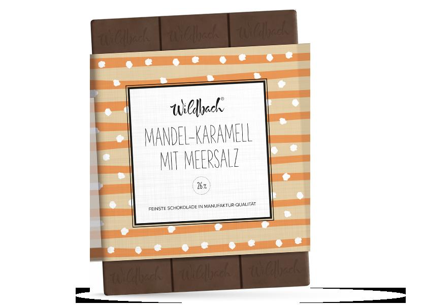 Wildbach Schokolade - Glutenfrei Mandel-Karamell mit Meersalz