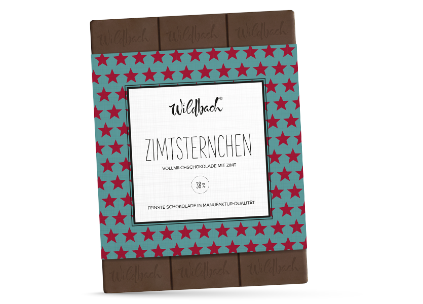 Wildbach Schokolade - Saisonschokoladen Zimtsternchen