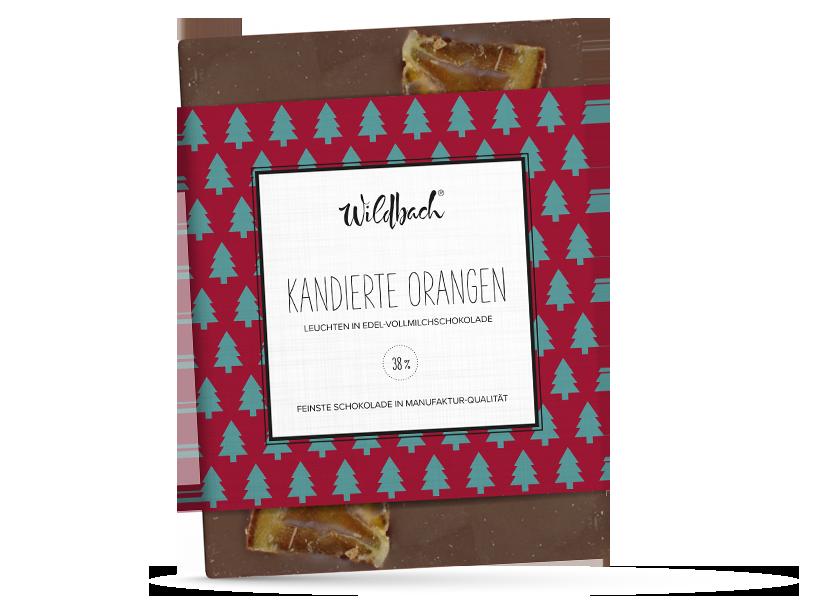 Wildbach Schokolade - Saisonschokoladen Kandierte Orangen – Weihnachtstafel