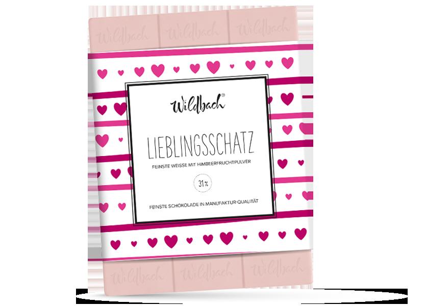 Wildbach Schokolade - Themenschokoladen Lieblingsschatz