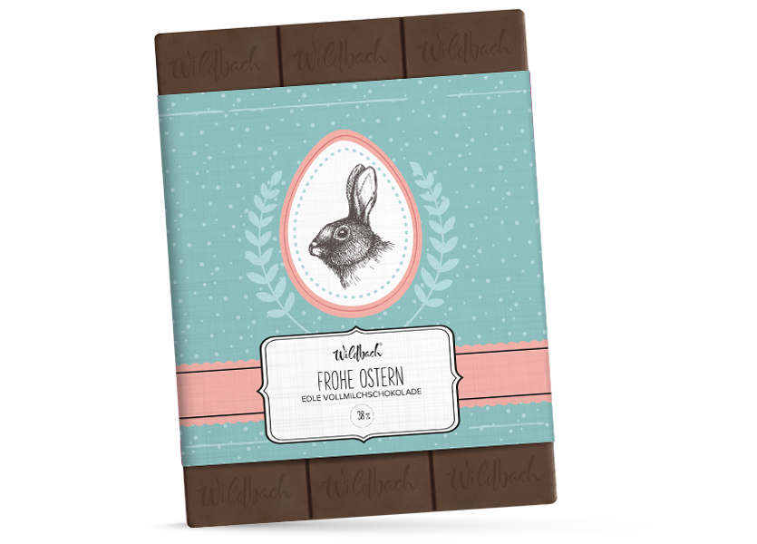 Wildbach Schokolade - Saisonschokoladen Frohe Ostern – Vollmilch