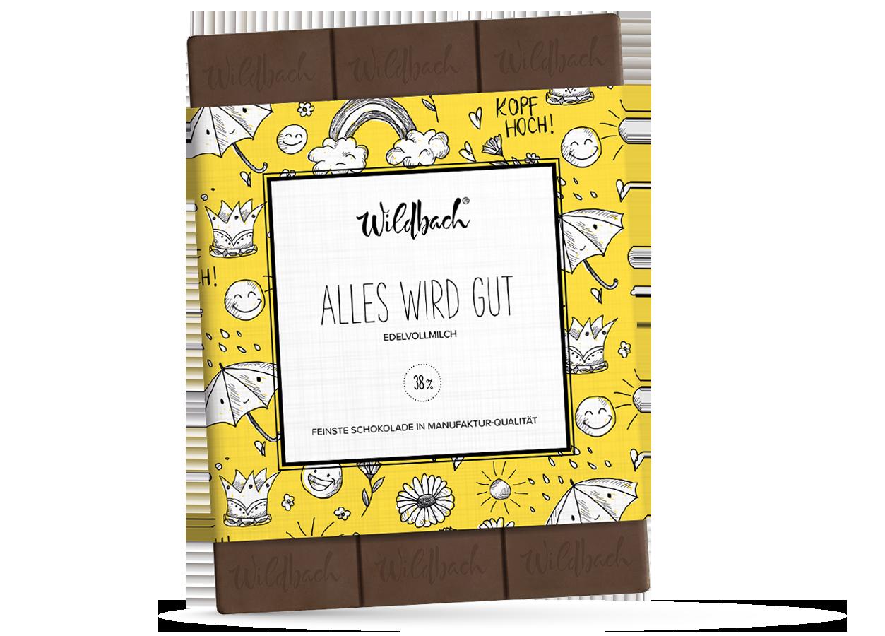 Wildbach Schokolade - Themenschokoladen Alles wird gut