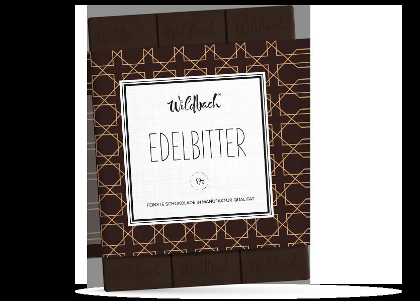 Wildbach Schokolade - Glutenfrei Edelbitter 99%