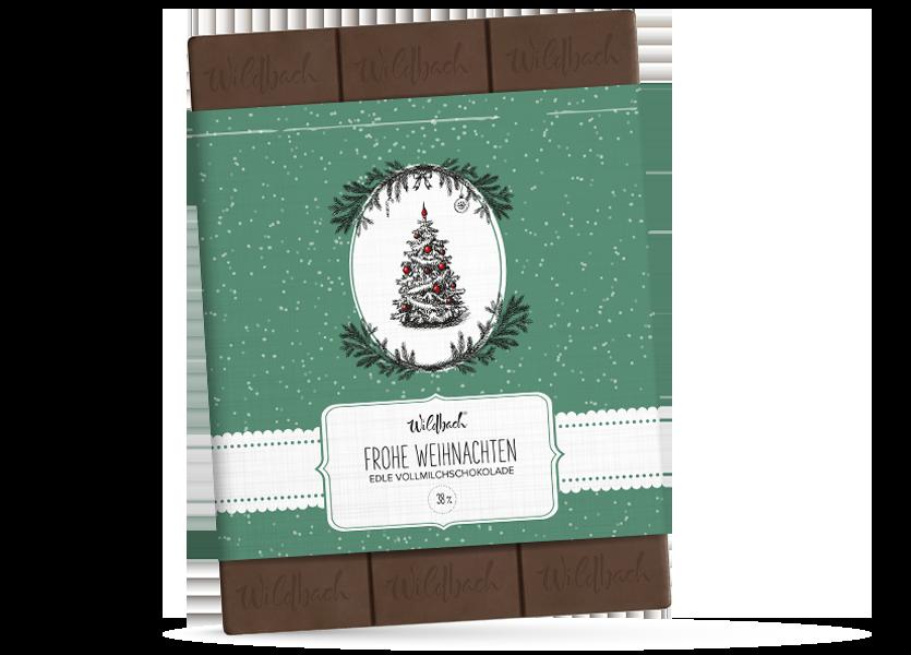 Wildbach Schokolade - Saisonschokoladen Vintage Frohe Weihnachten – Edle Vollmilch