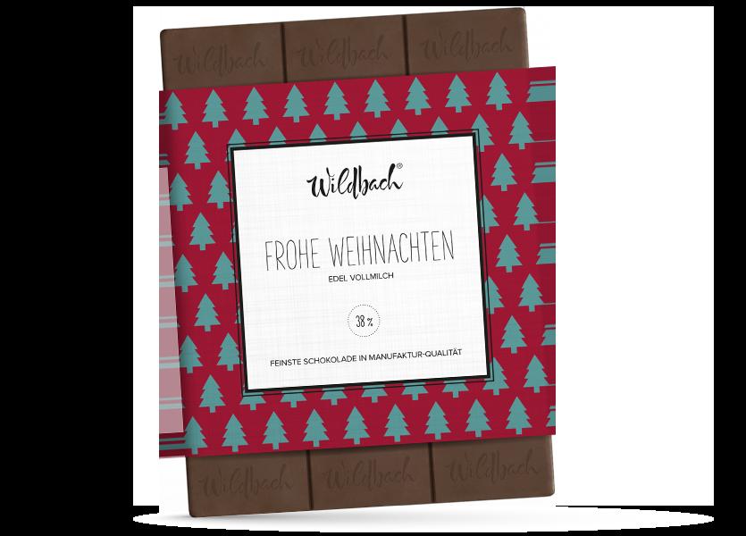 Wildbach Schokolade - Saisonschokoladen Weihnachtstafel Edel Vollmilch