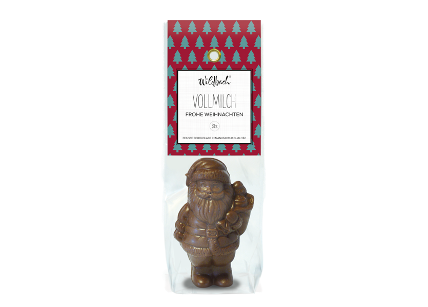 Wildbach Schokolade - Saisonschokoladen Weihnachtsmann Vollmilch