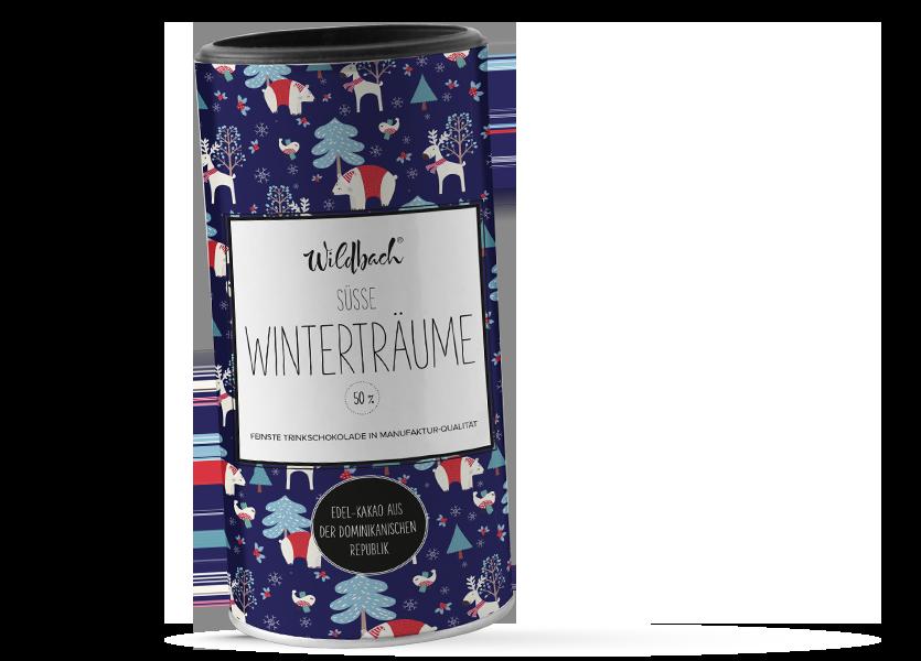 Wildbach Schokolade - Saisonschokoladen Trinkschokolade Trinitario 50%  Süsse Winterträume