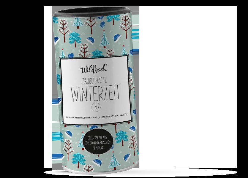 Wildbach Schokolade - Saisonschokoladen Trinkschokolade Trinitario 70% Zauberhafte Winterzeit