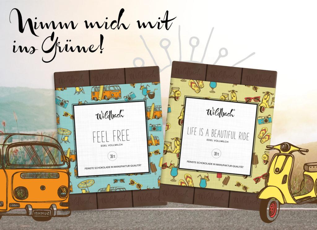 Premium Schokolade; Picknick; Snacks, Ab ins Grüne; Endlich raus