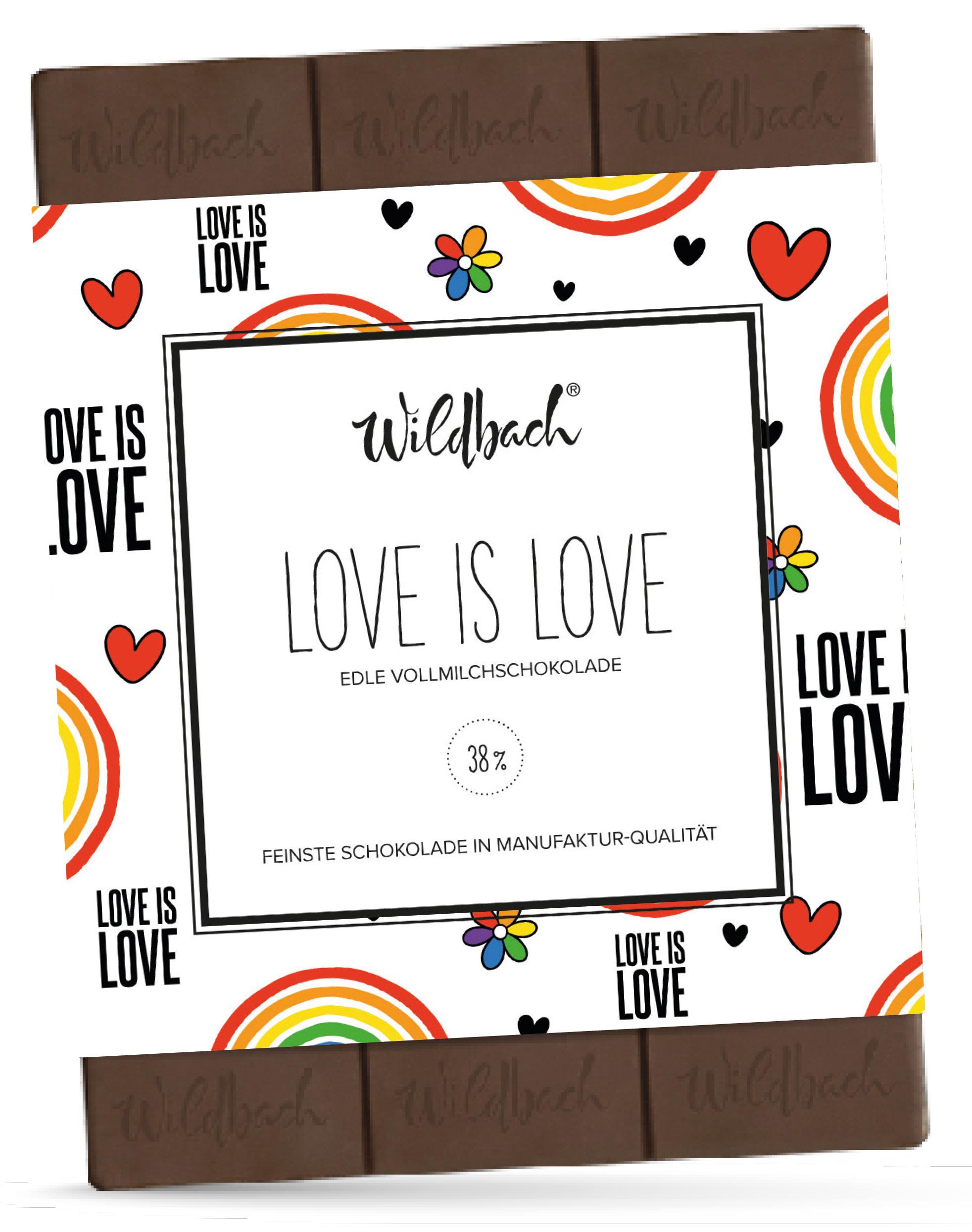 Wildbach Schokolade - Glutenfrei Love is Love