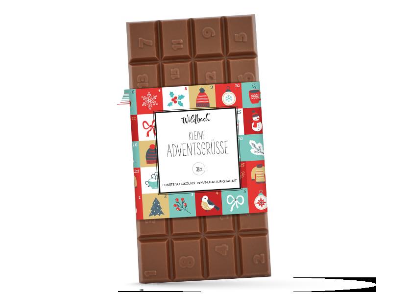 Wildbach Schokolade - Deluxe Edition Adventskalender Tafel Edelvollmilch
